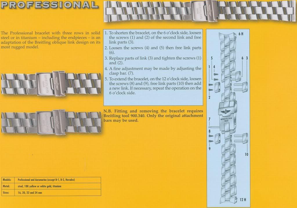 prix bas grande remise haut de gamme authentique Breitling Professional Bracelet